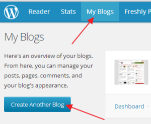 create blog on wordpress.com