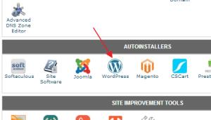 wordpress install-one-click